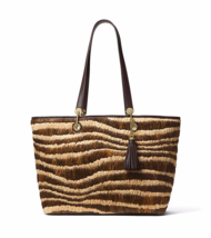 MICHAEL Michael Kors Malibu Large East/West Top Zip Tote Bag Natural - $148.49