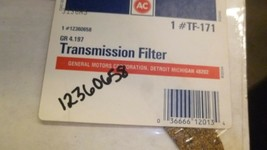 AC Delco Auto Trans Filter Kit 12360658 PF171 PF195 TF213 (WIX 51878 ) - $35.00