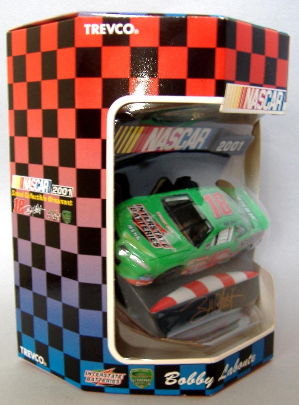 Collectible Nascar Ornament 2001 Bobby Labonte #18 Race Car Christmas Keepsake