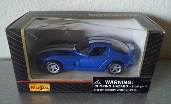 MAISTO Motorized pull-back DODGE VIPER GTS diecast toy NIB