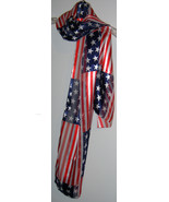 "PATRIOTIC SCARF with a shiny ""silky feel"" - $8.00"