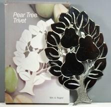 """Pear Tree Trivet Silverplated 10"""" x 6 1/2""""  - $1.95"""