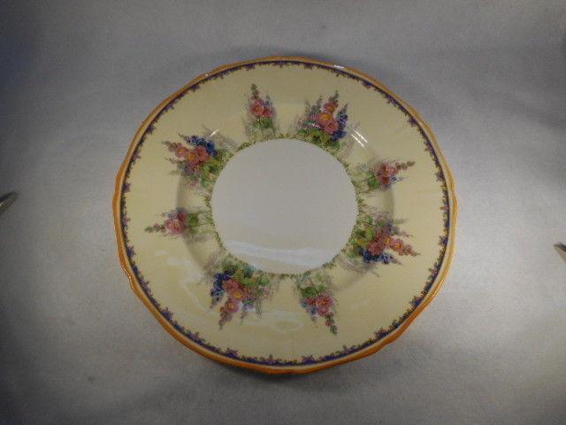 """Vintage Alfred Meakin Hollyhock 10"""" Dinner Plate"""