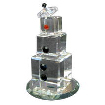 3 inch tall Clear Crystal Snowman - Noel image 3