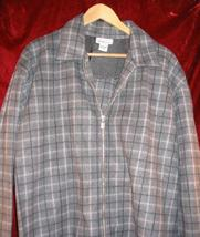 Womens Avenue Fleece Gray Jacket 14/16 L - $12.85