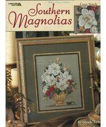 Cross Stitch Southern Magnolias Centerpiece Swag Glynda Turley 3 Pattern... - $13.99