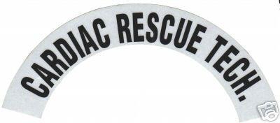 CARDIAC RESCUE TECH REFLECTIVE FIRE HELMET CRESCENT DECALS - A PAIR image 3