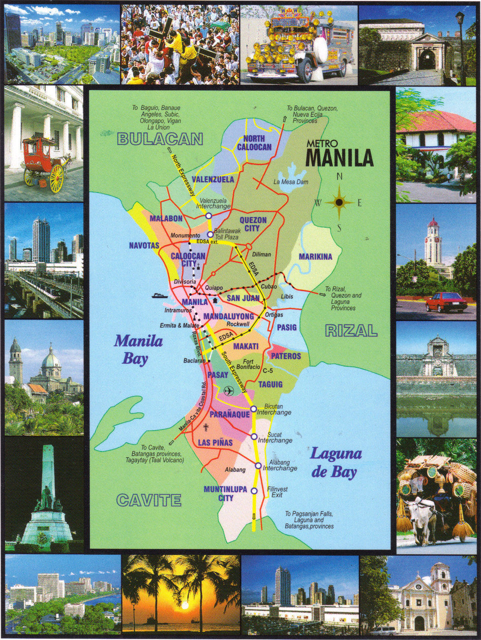 PHILIPPINES POSTCARD MAPS, New