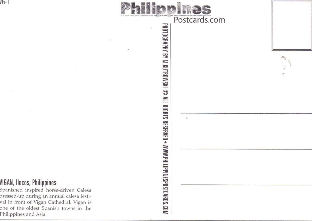 PHILIPPINES POSTCARDS, New: VIGAN, ILOCOS