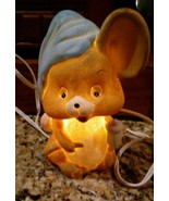 1980's Ceramic Mouse Holding a Baby Bottle-wearing night cap Electric NI... - $10.40