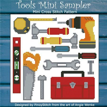 Primary image for Tools Mini Sampler cross stitch chart Pinoy Stitch