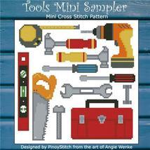 Tools Mini Sampler cross stitch chart Pinoy Stitch - $6.30