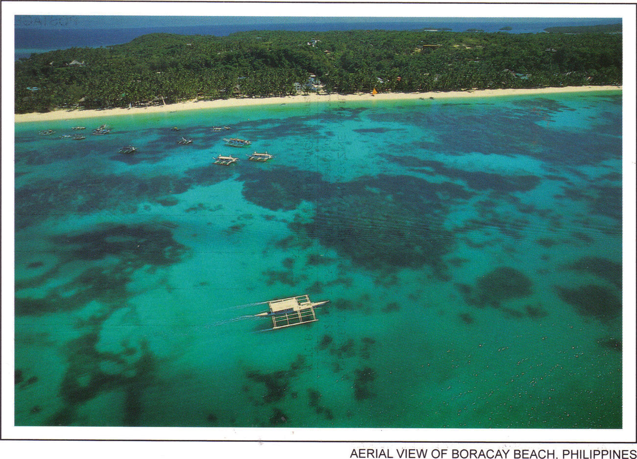 PHILIPPINES POSTCARDS, New: BORACAY, Aerial View
