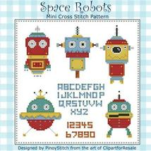 Space Robots Mini Sampler cross stitch chart Pinoy Stitch - $7.20
