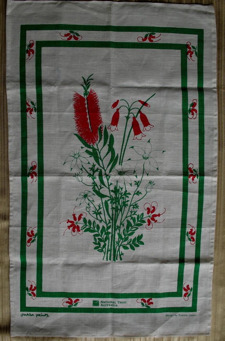 National Trust Australia Tea Dish Towel Souvenir Collector Australian Plants