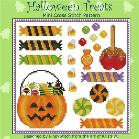 Primary image for Halloween Treats Mini Sampler cross stitch chart Pinoy Stitch
