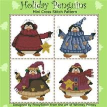 Holiday Penguins christmas cross stitch chart Pinoy Stitch - $7.20