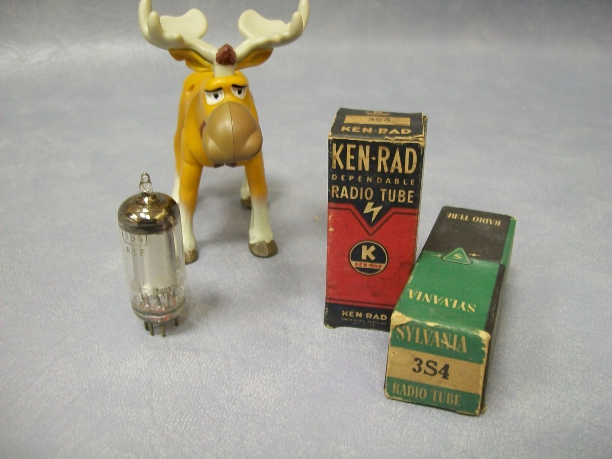 Primary image for 3S4 Vacuum Tubes  Lot of 2  Ken-Rad / Sylvania