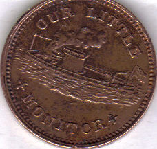 Primary image for 1863 OUR LITTLE MONITOR Patriotic Civil War Token