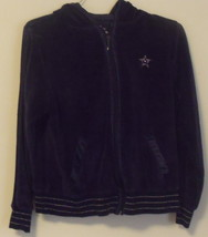Womens Arizona Jean Company Purple Velour Full Zip Hooded Jacket Size M - $11.95