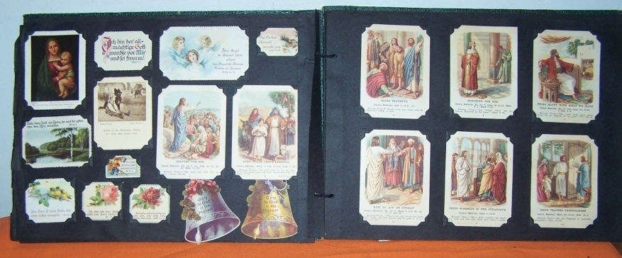 Vintage Religious Color Photos And Certificates 1950