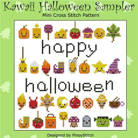 Primary image for Kawaii Halloween Sampler cross stitch chart Pinoy Stitch