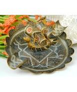 Vintage Brass Damascene Spanish Dragon Galleon Ship Hand Ash Tray - $18.95