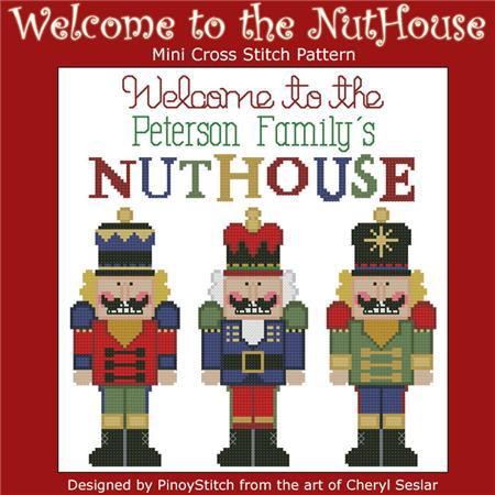 Primary image for Welcome To The Nuthouse christmas customizable cross stitch chart Pinoy Stitch