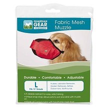Guardian Gear Fabric MESH Dog MUZZLES Comfortable Soft Red Muzzle for Do... - $22.20