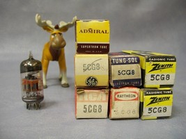 5CG8 Vacuum Tubes  Lot of 7  Admiral / GE / Ratheon / RCA / Tung-Sol / Z... - $40.16
