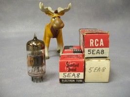 5EA8 Vacuum Tubes  Lot of 3  RCA / Standard - $25.16