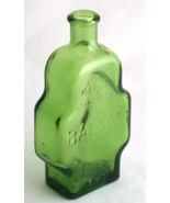 Wheaton King's Patent Balsam of Life Stepped Green Glass Bottle - $5.00