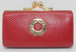 Authentic PIERRE CARDIN hot red leather mini cl... - $79.20