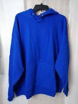 Hanes Unisex Ecosmart Hoodie Cobalt Blue Kangaroo Pockets Long Sleeves 2... - $17.82