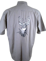 Men's REDHEAD Shirt deer hunter short sleeve pit to pit 24 M embroidery 2 pocket - $16.03