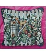 Tapestry Pillow Sports a Garden Theme - $25.00