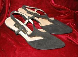 Womens Black Eclisse Suede Dress Shoes Pump 8 - $10.00