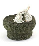 Top Collection Miniature Fairy Garden and Terrarium Bunny Rabbits Kissin... - $21.00