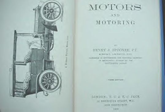 1906 Motors & Motoring Book Auto Repair Manual Car Guide