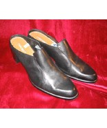 Like New Cherokee Black Leather Clogs Sandals SlipOn 11 - $9.99