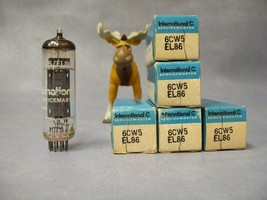 6CW5 / EL86 International C Vacuum Tubes  Lot of 5 - $90.16