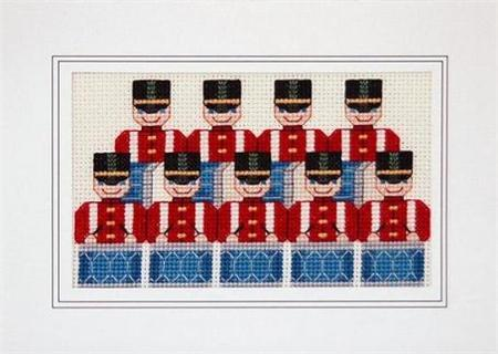 Primary image for Days of Christmas Ninth Day holiday cross stitch card chart Linda Jeanne Jenkins