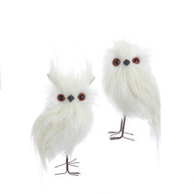 White Furry Owls Ornaments - $24.95
