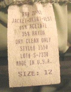 Womens Good Times Green Suit Jacket Vest Skirt USA 12