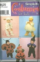 Simplicity 4825. Toddlers Costumes. Size: 1/2-1-2-3-4 - $12.74