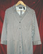 Womens New York & Company Jacket Button Shirt Pajama XL - $14.50