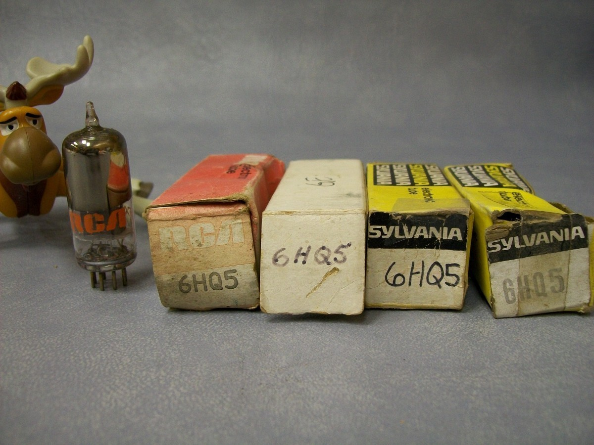 Primary image for 6HQ5 Vacuum Tubes  Lot of 4  RCA / GE / Sylvania
