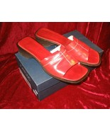 Joan & David Brown Leather Sandals Mule Slides Italy 9M - $29.90