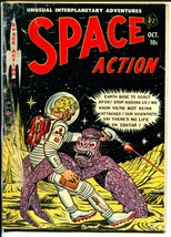 Space Action #3 1952-Ace-a-bomb explosion-sci-fi thrills-final issue-G - $93.12