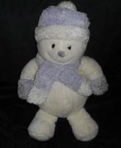 "18"" Commonwealth Meltin Snowman White Purple Christmas Stuffed Animal Plush Toy - $45.82"